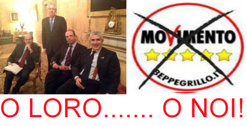 Grillo,Bersani, Alfano, Casini, Monti; PD, pdl , berlusconi