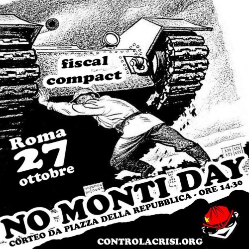 monti, no tav, no monti day,default, no debito, fiscal compatc